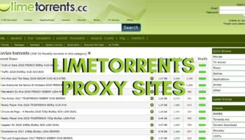 LimeTorrents Proxy and Mirrors Sites